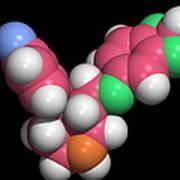 Seroxat (paroxetine) Molecule Poster by Dr Tim Evans