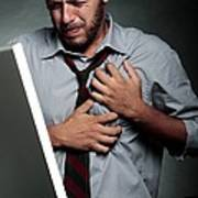 Stress-related Heart Attack Poster by Mauro Fermariello