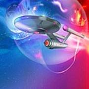 Time Travelling Spacecraft, Artwork Poster by Detlev Van Ravenswaay