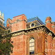 Uc Berkeley . South Hall . Oldest Building At Uc Berkeley . Built 1873 . The Campanile In The Back Poster by Wingsdomain Art and Photography