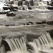 Waterfalls With Fresh Snow Thunder Bay Poster by Susan Dykstra
