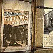 10 Nights In A Bar Room Poster by Scott Norris