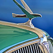 1935 Hudson Touring Sedan Hood Ornament Poster by Jill Reger