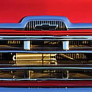 1957 Chevrolet Pickup Truck Grille Emblem Poster by Jill Reger