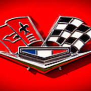 1963 Chevy Corvette Emblem Poster by David Patterson