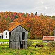 Autumn Farm Poster by Steve Harrington