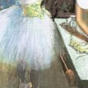 Dancer In Her Dressing Room Poster by Edgar Degas