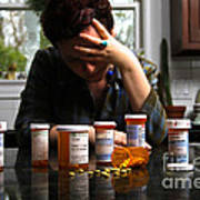 Depression And Addiction Poster by Photo Researchers, Inc.
