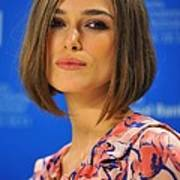 Keira Knightley At The Press Conference Poster by Everett