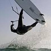 Kitesurfing Board Poster by Hagai Nativ