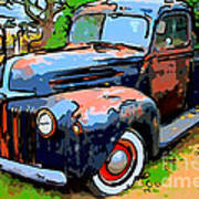 Nostalgic Rusty Old Truck . 7d10270 Poster by Wingsdomain Art and Photography