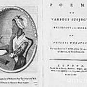 Phillis Wheatley, African-american Poet Poster by Photo Researchers