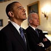 President Obama And Vp Biden Poster by Everett