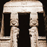 Temple Of Hathor Poster by Photo Researchers, Inc.