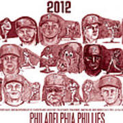 2012 Philadelphia Phillies Poster by Chris  DelVecchio