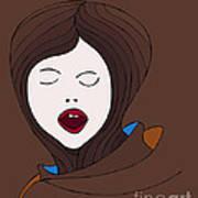 A Woman Poster by Frank Tschakert