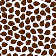 Brown Abstract Poster by Frank Tschakert