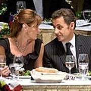 Carla Bruni-sarkozy, Nicolas Sarkozy Poster by Everett