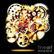 Gears Wheels Design  Poster by Setsiri Silapasuwanchai