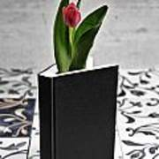 Tulip In A Book Poster by Joana Kruse