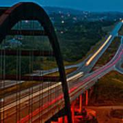 360 Bridge Morning Traffic Poster by Lisa  Spencer