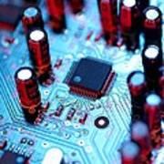 Circuit Board Poster by Tek Image