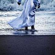 Girl At The Sea Poster by Joana Kruse