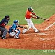 Professional Baseball Game In Taiwan Poster by Yali Shi