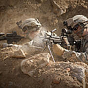 U.s. Army Rangers In Afghanistan Combat Poster by Tom Weber