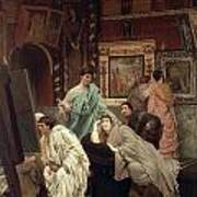 A Collector Of Pictures At The Time Of Augustus Poster by Sir Lawrence Alma-Tadema