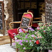 A French Restaurant Greeting Poster by Lainie Wrightson