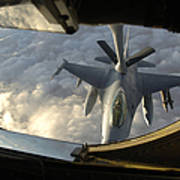 A Kc-135 Stratotanker Connects With An Poster by Stocktrek Images