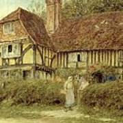 A Kentish Cottage Poster by Helen Allingham