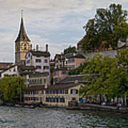 A Panorama View Of Zurich Poster by Greg Dale