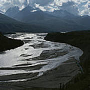 A Scenic View Of The Matanuska River Poster by George F. Herben