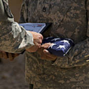 A Soldier Is Presented The American Poster by Stocktrek Images