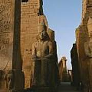 A View Of Luxor Temple Poster by Kenneth Garrett