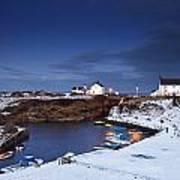 A Village On The Coast Seaton Sluice Poster by John Short
