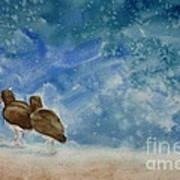 A Walk On The Beach Poster by Estephy Sabin Figueroa