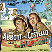 Abbott And Costello Meet The Mummy, Lou Poster by Everett