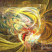 Abstract Art - In Full Bloom Poster by Abstract art prints by Sipo