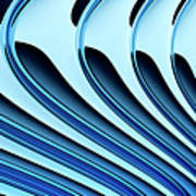 Abstract Curved Lines, Diminishing Perspective Poster by Ralf Hiemisch