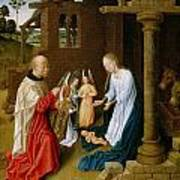 Adoration Of The Christ Child  Poster by Master of San Ildefonso