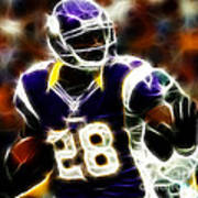 Adrian Peterson 02 - Football - Fantasy Poster by Paul Ward