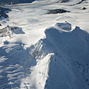 Aerial View Of Glaciated Mount Douglas Poster by Richard Roscoe