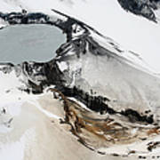 Aerial View Of Snow-covered Ruapehu Poster by Richard Roscoe