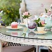 Afternoon Tea And Cakes Poster by Simon Bratt Photography LRPS