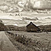 Ah...west Virginia Sepia Poster by Steve Harrington