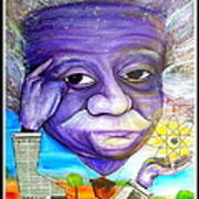 Albert Thinks Poster by Jose J Montee Montejano