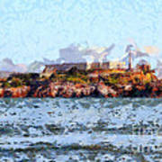 Alcatraz Island In San Francisco California . 7d14031 Poster by Wingsdomain Art and Photography